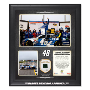 Jimmie Johnson 2015 QuikTrip 500 Win Framed 15'' x 17'' Collage With-Used Tire