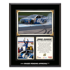 Jimmie Johnson 2015 QuikTrip 500 Win Sublimated 10.5'' x 13'' Plaque
