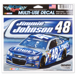 Jimmie Johnson 2015 5X6 Decals Multi Car