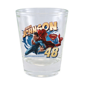Jimmie Johnson #48 Superman 2 oz. Collector Glass