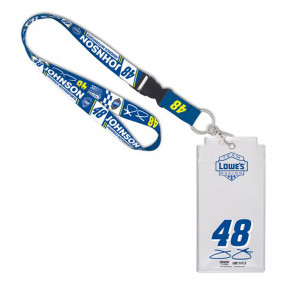 Jimmie Johnson Credential Holder with Lanyard