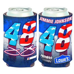 Jimmie Johnson #48 Patriotic Can Cooler - 12oz