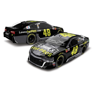 AUTOGRAPHED Jimmie Johnson 2018 NASCAR Cup Series No. 48 Lowes ELITE 1:24 Die-Cast