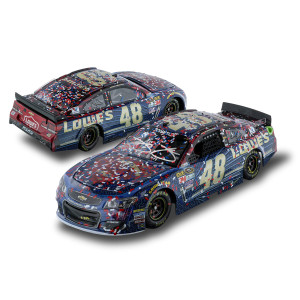 AUTOGRAPHED Jimmie Johnson #48 2016 AUTO CLUB 400 Race Win Superman 1:24 Diecast