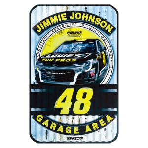 "Jimmie Johnson #48 2018 NASCAR Plastic Sign - 11"" x 17"""