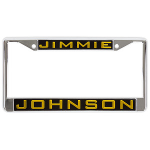 Jimmie Johnson #48 2018 NASCAR Inlaid Metal License Plate Frame