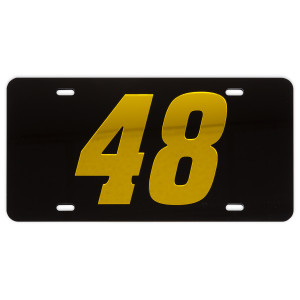 Jimmie Johnson #48 2018 NASCAR Crystal Mirror License Plate