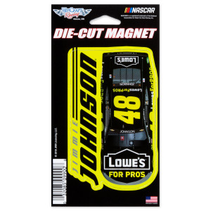 "Jimmie Johnson #48 2018 NASCAR Die-Cut Magnet - 3"" x 5.4"""