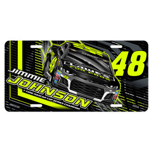 Jimmie Johnson #48 2018 NASCAR Fluorescent License Plate