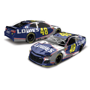 Dual Autographed Jimmie Johnson/Chad Knaus 2018 NASCAR Lowe's Final Race in Homestead HO ColorChrome 1:24 Die-Cast