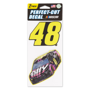 #48 Jimmie Johnson NASCAR 2019 Perfect Cut Decal (Set of Two)