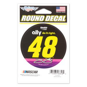 #48 Jimmie Johnson NASCAR 2019 Round Vinyl Decal