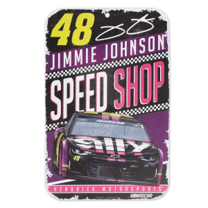 #48 Jimmie Johnson NASCAR 2019 Plastic Sign