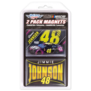 #48 Jimmie Johnson NASCAR 2019 Retangle Magnet (Two Pack)