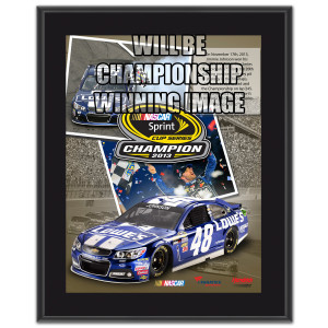 Jimmie Johnson #48 2013 Sprint Cup Champion 10.5''x13'' Sublimated Plaque