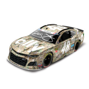 Autographed Jimmie Johnson 2019 #48 NASCAR Ally Patriotic Elite 1:24 - Die Cast