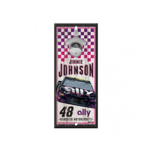 "Jimmie Johnson #48 2020 ally Bottle Opened Sign 5"" x 11"""