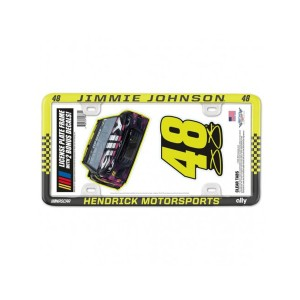 Jimmie Johnson #48 2020 Ally Plastic License Plate Frame