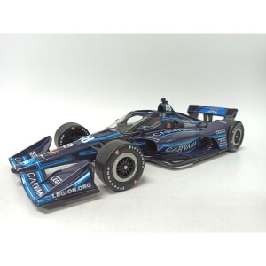 Autographed Jimmie Johnson Carvana Blue Steel IndyCar Series 2021 #48 1:18 Diecast