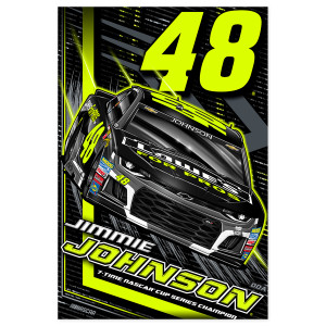 "Jimmie Johnson #48 2018 NASCAR Fluorescent Poster - 24""x36"""