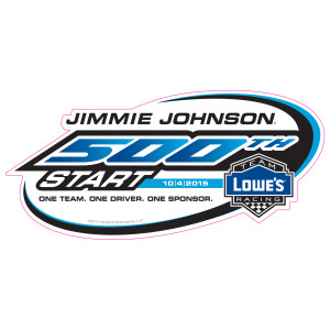 EXCLUSIVE Jimmie Johnson JJ500 500th Career Start Decal