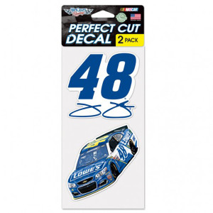 "Jimmie Johnson Perfect Cut Decal (set of 2) - 4"" x 4"""