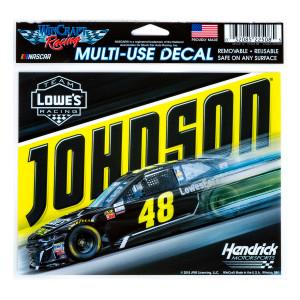 "Jimmie Johnson #48 2018 NASCAR Multi-Use Decal - 5"" x 6"""