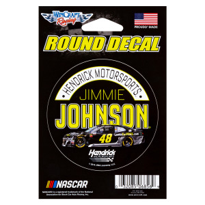 Jimmie Johnson #48 2018 NASCAR Round Decal - 3""