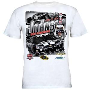 Jimmie Johnson #48 2014 Quicken Loans 400 Spring Race Winner T-shirt PRE-ORDER
