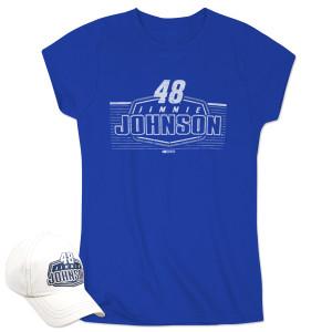 Jimmie Johnson Ladies SS Driver Team Tee & Cap Combo