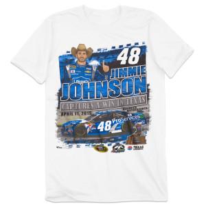 Jimmie Johnson #48 2015 Texas Race Winner T-shirt