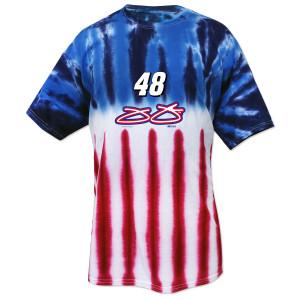 Jimmie Johnson #48 American Tye Dye T-Shirt