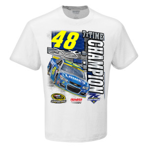 Jimmie Johnson 2016 NASCAR Champ 1-spot Graphic  T-shirt