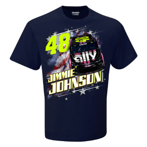 #48 NASCAR Jimmie Johnson Ally Financial Patriotic Car T-shirt