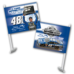 Jimmie Johnson #48 2013 Daytona 500 Champion Car Flag