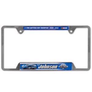 Jimmie Johnson #48 2013 Daytona 500 Champion Metal License Plate Frame