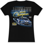 Jimmie Johnson #48 2013 Sprint Cup Champion Ladies V-Neck T-shirt