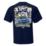 Jimmie Johnson 2016 NASCAR Champ 2-spot Multi-Champ Graphic  T-shirt