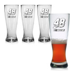 Jimmie Johnson 20oz Pilsner Glass - Set of 4