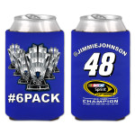 Jimmie Johnson #48 2013 Sprint Cup Champion EXCLUSIVE #6PACK Koozie