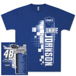 Jimmie Johnson #48 Lowes 2013 Schedule Starter T-shirt