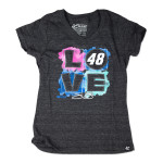 Chase Authentics Jimmie Johnson - Youth Girl's Love Tee