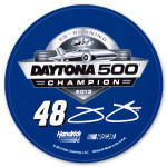 "Jimmie Johnson #48 2013 Daytona 500 Champion 3"" Round Decal"