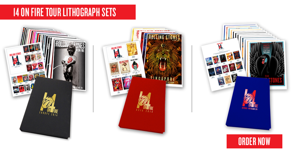 14 On Fire Tour Lithograph and T-Shirt Box Sets