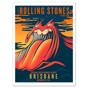 Rolling Stones Brisbane Gold Coast Litho