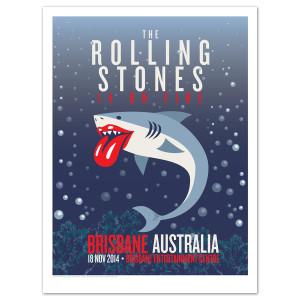 Rolling Stones Brisbane Shark Litho