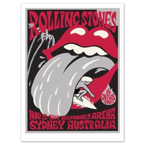Rolling Stones Sydney Bondi Beach Litho