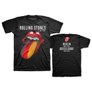 Rolling Stones Germany Flag Tongue T-Shirt