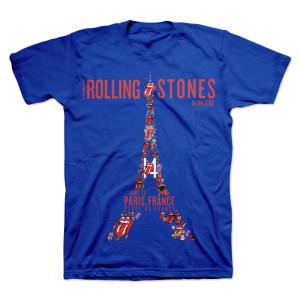 Rolling Stones Paris Eiffel Tower T-Shirt