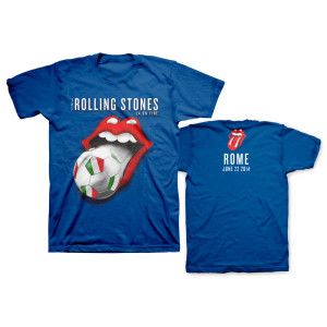 Rolling Stones Italy Soccer T-Shirt